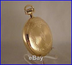 107 YEARS OLD HAMILTON 993 21j 14k GOLD FILLED HUNTER CASE 16s POCKET WATCH