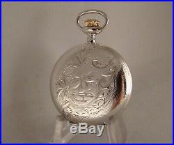 115 Years Old Elgin Sterling Silver Hunter Case Great Looking Pocket Watch