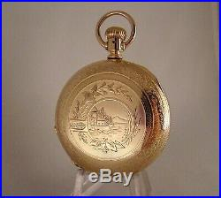 125 YEAR OLD ILLINOIS BUNN 17j 14k GOLD FILLED HUNTER CASE 18s POCKET WATCH