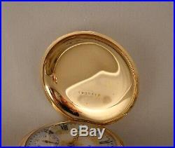 133 YEAR OLD ELGIN 14k GOLD FILLED HUNTER CASE FANCY DIAL 18s GREAT POCKET WATCH