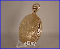 134 YEARS OLD LANCASTER 10k GOLD FILLED HUNTER CASE 18s GREAT POCKET WATCH