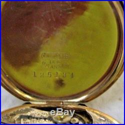 14K Solid Multi-Color Gold Elgin Ladies' Hunting Case Pocket Watch
