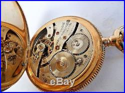 14k Solid Gold Vintage 1918 Waltham 17J Royal Hunter's Case Pocket Watch Runs