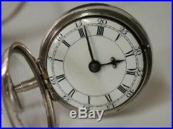 1766 London. J Richards Silver Pair Cased Verge Fusee Pocket Watch