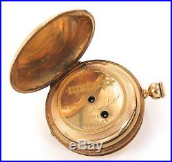 1800s STUNNING 18K GOLD CASE / CHAS. E PERRIN, GENEVA TWIN KEY POCKET WATCH