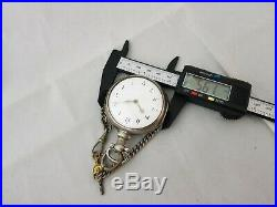 1810 Silver verge fusee pair case nickilson and son newcastle pocket watch