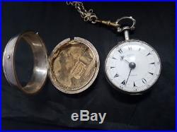 1866 Ottoman Turkish Edward Prior verge fusee Silver Pair Case Pocket Watch