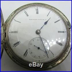 1871 Elgin JT Reyerson KW Key WInd Coin Silver Hunter Case Pocket Watch Early