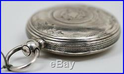 1873 American Watch Co. KEY WINDING Pocket Watch with Coin Silver Case WORKING