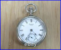 1883 Antique Waltham Pocket Watch with Oresilver Case 11-Jewels 1-H5618
