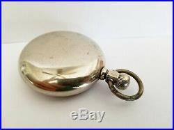 1887 Elgin Size 18s 11J Pocket Watch Swing-Out Open Face Case Runs & Keeps Time