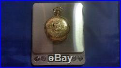 1888 Antique Waltham 17j 16s Pocket Watch Multicolor 14K Gold Case