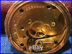 1891 Antique Elgin 14 K gold Watch 11j size 6s and 94 grade Gorgeous gold case