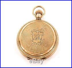 1892 Elgin 14k Gold Case 6s 11j Pocket Watch, Scarce Only 84,000 Made