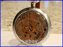 18SZ Elgin Pocket Watch in Display Case-Serviced Keeps Time -17 Jewels