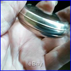 18 size antique Hamilton salesman sample pocket watch case crystal both sides