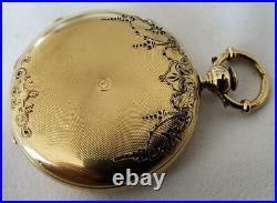 18k Gold Enamel EARLY Ulysse Nardin Hunter Case Pocket Watch High Grade