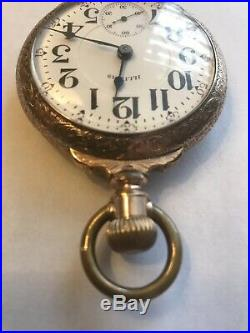 1902 Illinois Bunn Special 24 Ruby Jewels Railroad Pocket Watch Boxed Case