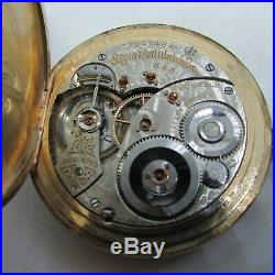 1907 Elgin 19J Grade 189 Hunter Case Gold Filled Pocket Watch Runs Well
