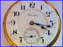 1907 HAMILTON 16s RR GRADE 990 21 JEWEL POCKET WATCH FAHYS PERMANENT WATCH CASE