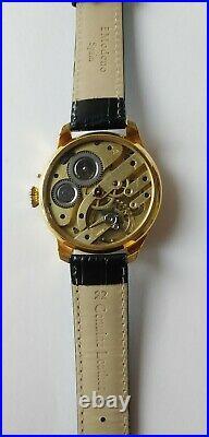 1910's Vintage Watch Zodiac, 24K Gold plated Case &Le Coultre pocket movement