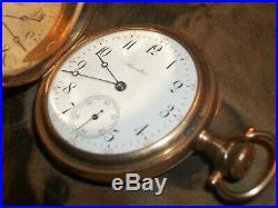 1911-Sz. 16 Hamilton Pocket Watch /17 Jewels/25 Year GF Hunter's Crescent Case