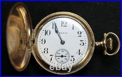 1916 Elgin Grade 419 3/0s 15j Pocket Watch with FANCY Hunter Case Parts/Repair