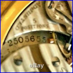1934 Hamilton Railroad Grade 950 Pocket Watch 23j Ruby, 16s Gold Filled BOC Case