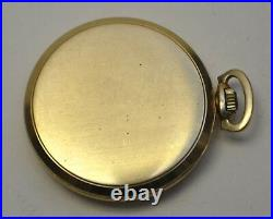 1940's Longines 14k Solid Gold Open Face 43.6mm case Pocket Watch