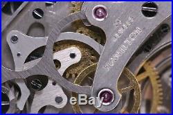 1942 HAMILTON Model 23 MILITARY ISSUE CHRONOGRAPH 19J Pocket Watch Salesman Case