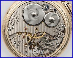 1947 Hamilton 16s 21j Adj. 992B Pocket Watch with 10k Gold Filled Hamilton Case