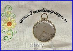 1950 Vintage Lord Elgin Mdl. 5, 21j, 10s Pocket watch in 14k Gold Filled Case