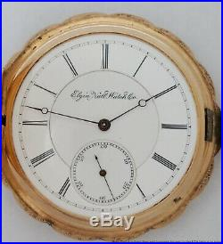 21j Rare Elgin Grade 91 Model 2 Convertible 14k Gold Hunter Case Pocket Watch