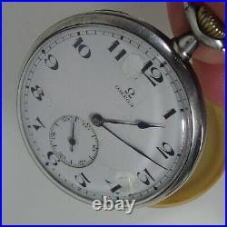 3906 HIGH QUALITY M P OMEGA POCKET WATCH GRAND PRIX silver case PARIS 1900