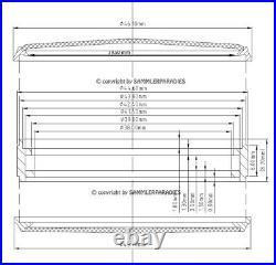 45,5mm EDELSTAHL CASE zum Einbau Werke DOXA LONGINES MOSER JWC UNION (38-40)mm