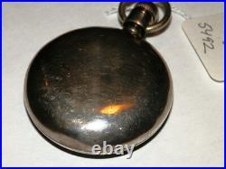 #5492, Vintage Elgin 18s 15J, 315 Move, Sterling Case Open Face Pocket Watch