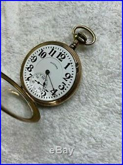 60 HOUR BUNN SPECIAL 21 jewel ILLINOIS pocket watch GORGEOUS GOLD FILLED CASE