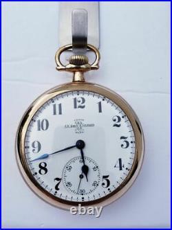 AK Jobe PL Hamilton 18s Pocket Watch Ball 999A 21 Jewel Movement GF Case