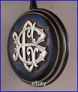 AMAZING Gun Metal CASE Chateleu 1900 Swiss HIGRADE Pocket Watch Perfect Serviced