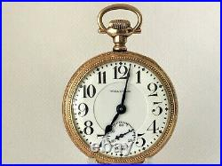 AMAZING Waltham Vanguard Pocket Watch 16s 23j. 25-Years Gold Filled Case Minty