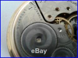 ANTIQUE 1911 ELGIN 16s 15j POCKET WATCH withGOLD FILLED CASE RUNNING
