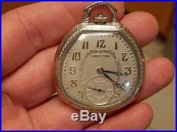 ANTIQUE 1920'S Hamilton 912 17 Jewel Size 12 Pocket Watch in Rare 14k GF Case