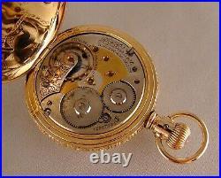 ANTIQUE WALTHAM P. S. BARTLETT 17j 10k GOLD FILLED HUNTER CASE 18s POCKET WATCH