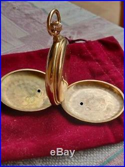 A. Lange & Sohne Hunter Case Pocket Watch 585 Gold