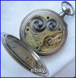 A. Lange & Sons Glashutte Pocket Watch open face silver case 53 mm. In diameter
