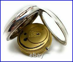 A Silver Cased 1883 Fusee Fattorini & Son Bradford Chronometer Pocket Watch