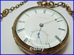 American Watch Co. Waltham Ps Bartlett Model 1857 18s Pocket Watch 14k Ladd Case