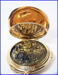 Antique 14k AUDEMARS FRERES GENEVE REPEATER Chronograph Hunter Case Pocket Watch