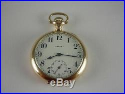 Antique 16s E. Howard 19 jewel Rail Road series 5 pocket watch Gold filled case