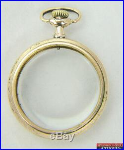 Antique 16s Fahy's Montauk 20 Year Yellow Gold Filled OF Pocket Watch Case SS